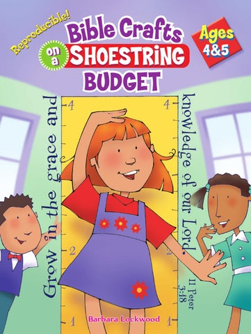 Bible Crafts On A Shoestring Budget Ages 4 5 By Rose Publishing