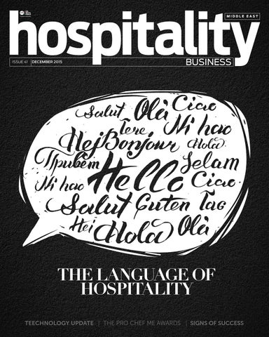 Hospitality Business ME | Issue 41 - 2015 by Hospitality Business ME