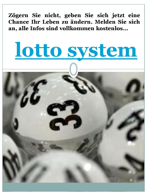 Lotto Gewinnen Mit System