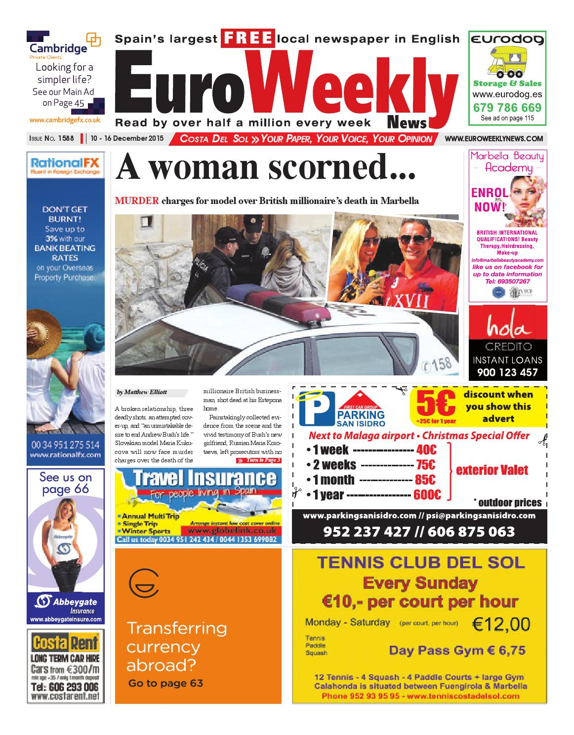 Euro Weekly News Costa Del Sol 10 16 December 2015 Issue 1588  # Muebles Tio Sam