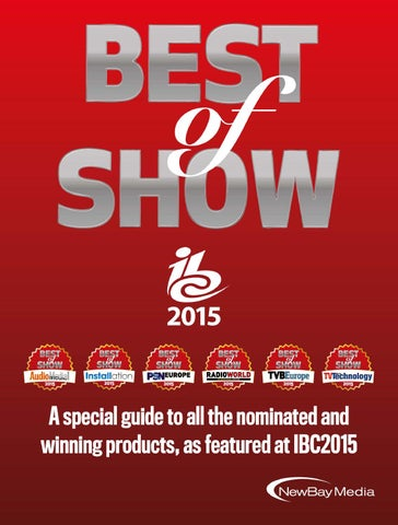 Best of show IBC 2015 digital edition by Future PLC - issuu