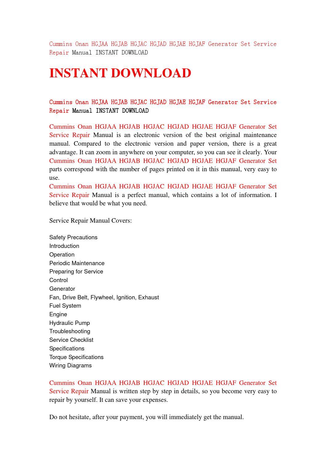 Onan generator Manual Download hgjab