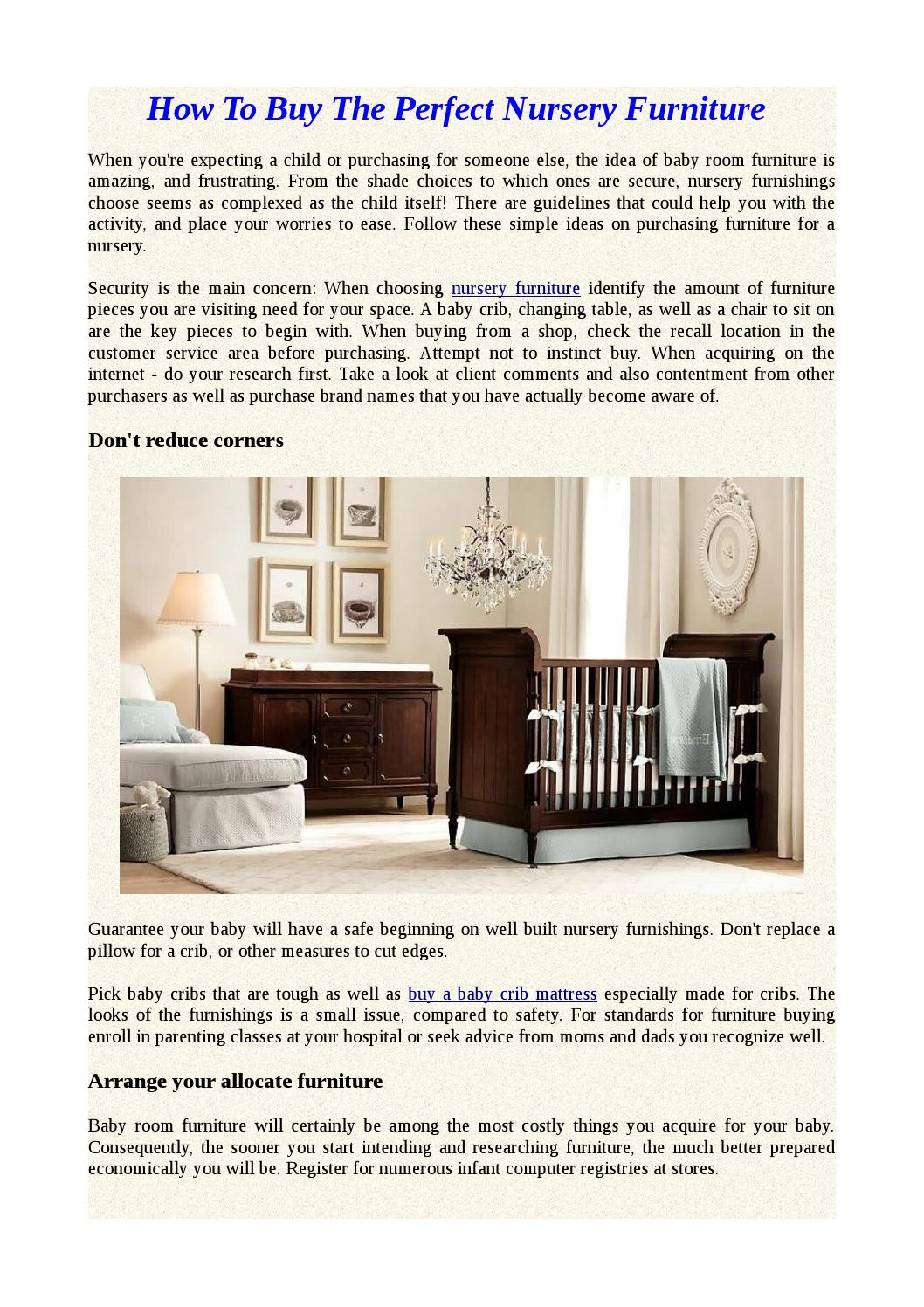 How To Buy The Perfect Nursery Furniture By Loaferchris Issuu