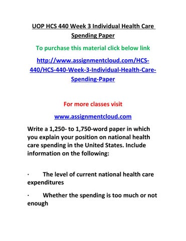 hcs 440 week 1 Study flashcards on hcs 440 week 1 history of health care economics paper at cramcom quickly memorize the terms, phrases and much more cramcom makes it easy to get the grade you want.