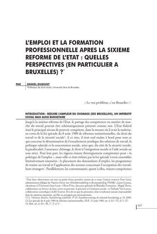 Lemploi Et La Formation Professionnelle Après La Sixième Réforme De