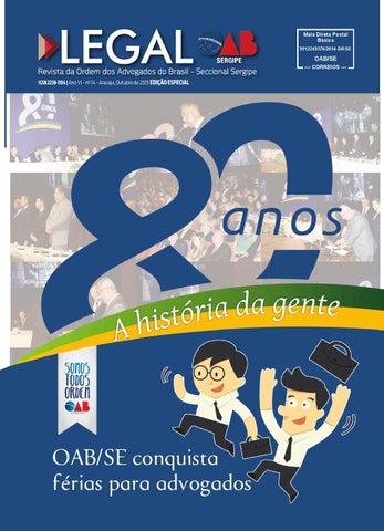 7d1cfbbb76bde Revista OAB Legal (Edição Especial 80 anos) by OAB Sergipe - issuu