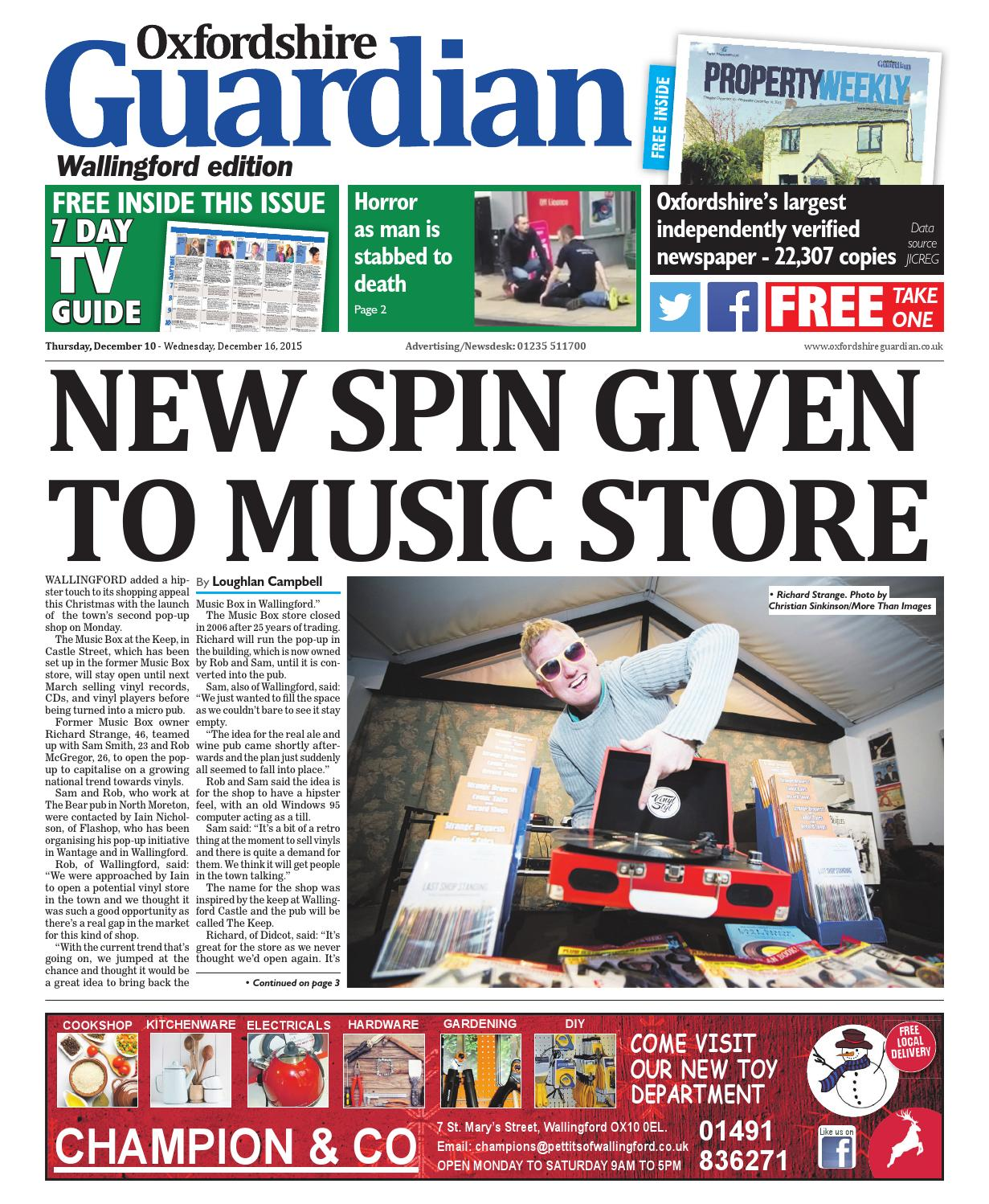 10 December 2015 Oxfordshire Guardian Wallingford By