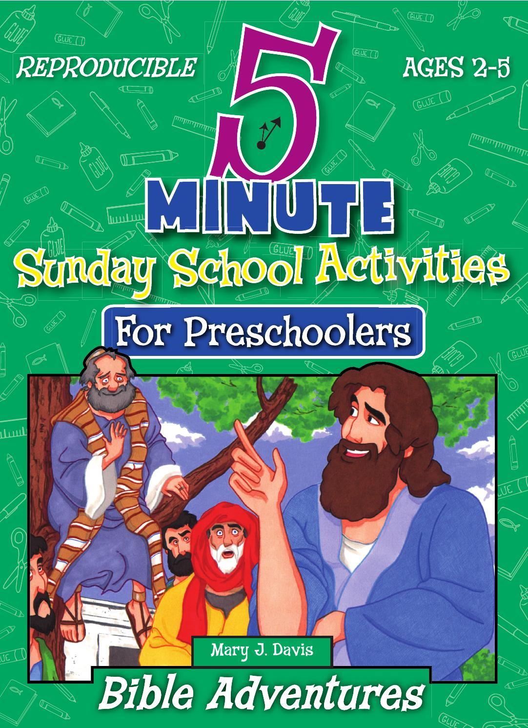 5 Minute Sunday School Activities for Preschool -- Bible Adventures ...