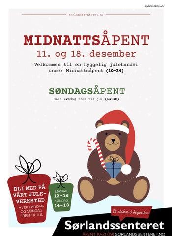 Midnattsapent By Sorlandssenteret Kristiansand Issuu