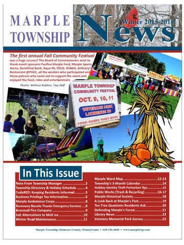 Pacifico Marple Ford >> Marple Township News Winter 2015 2016 by Franklin Maps - Issuu