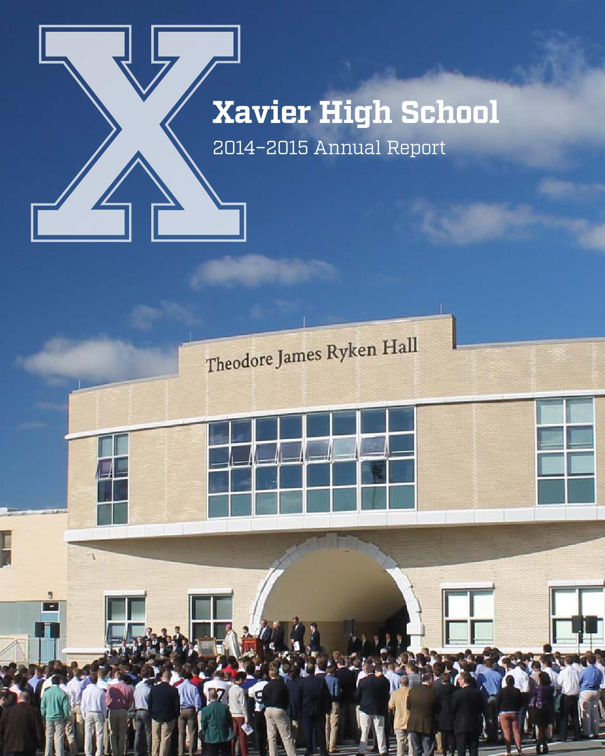 2014 2015 Annual Report By Xavier High School Publications