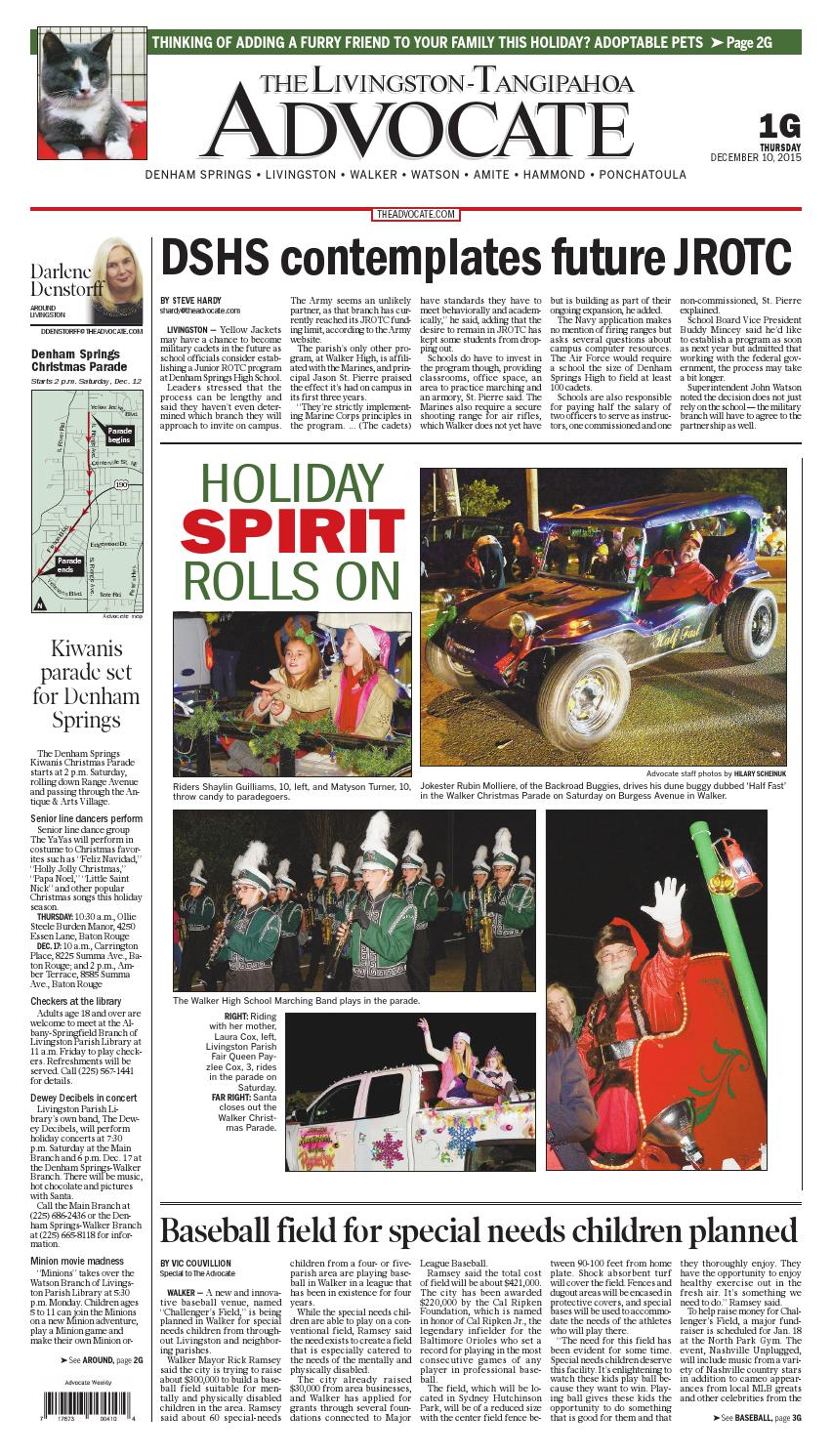 The Livingston-Tangipahoa Advocate 12-10-2015 by The Advocate - issuu