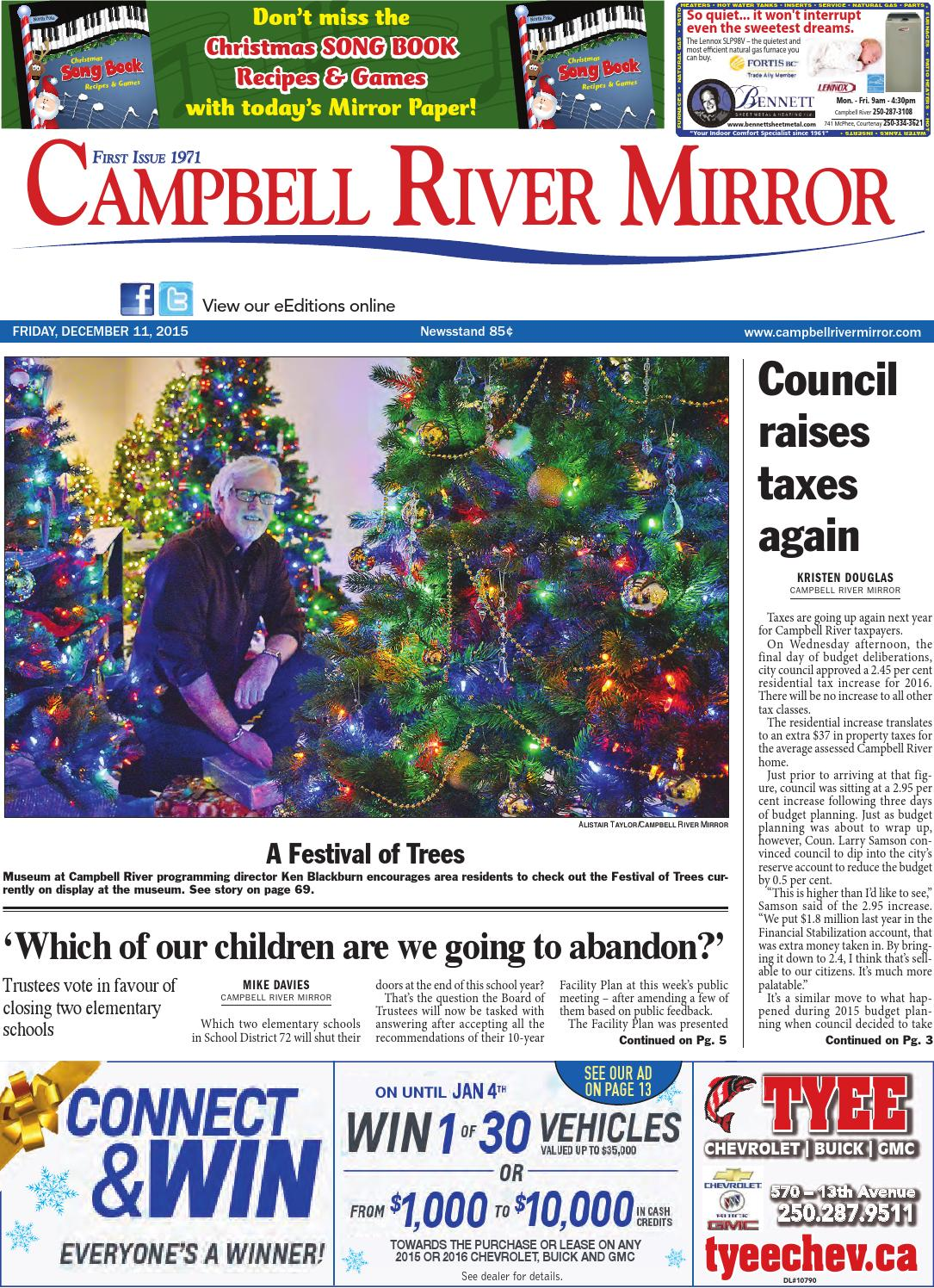 Campbell River Mirror, December 11, 2015 by Black Press - issuu ed247326a4