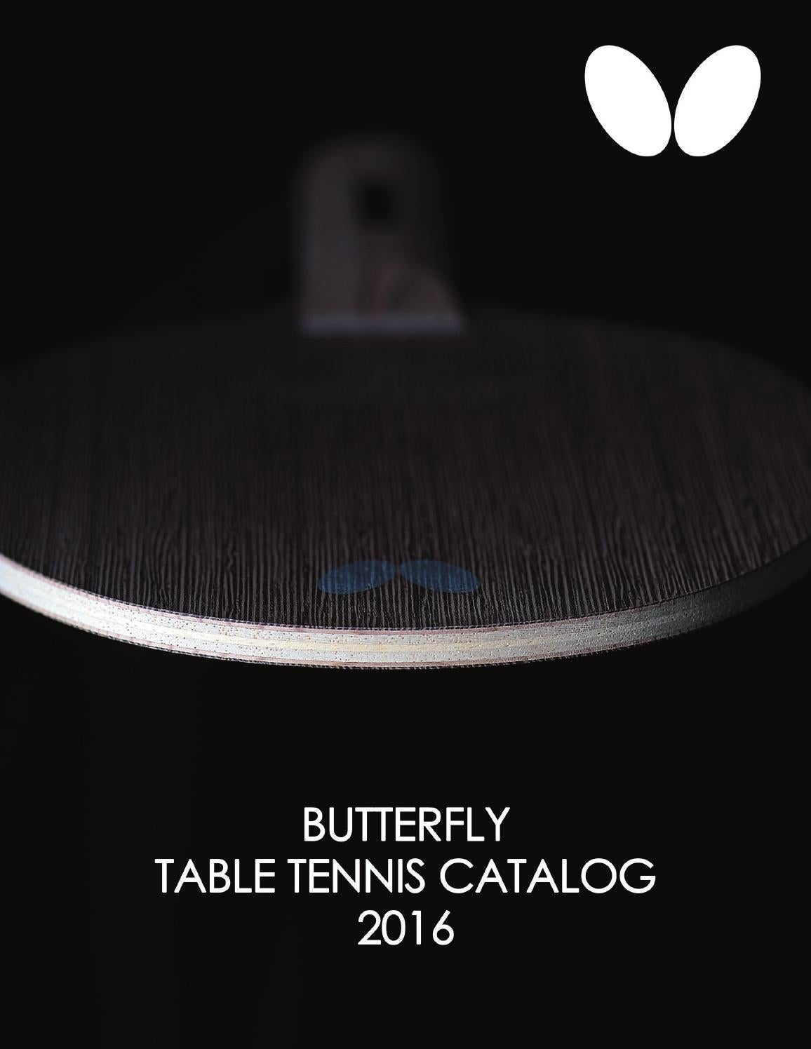 Butterfly Table Tennis Catalog 2016 by Bowmar Sports Issuu