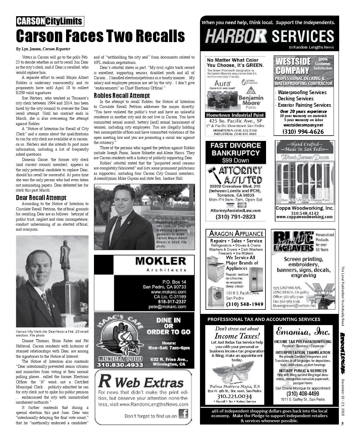 Random Lengths News 12-10-15 Issue by Random Lengths News - issuu