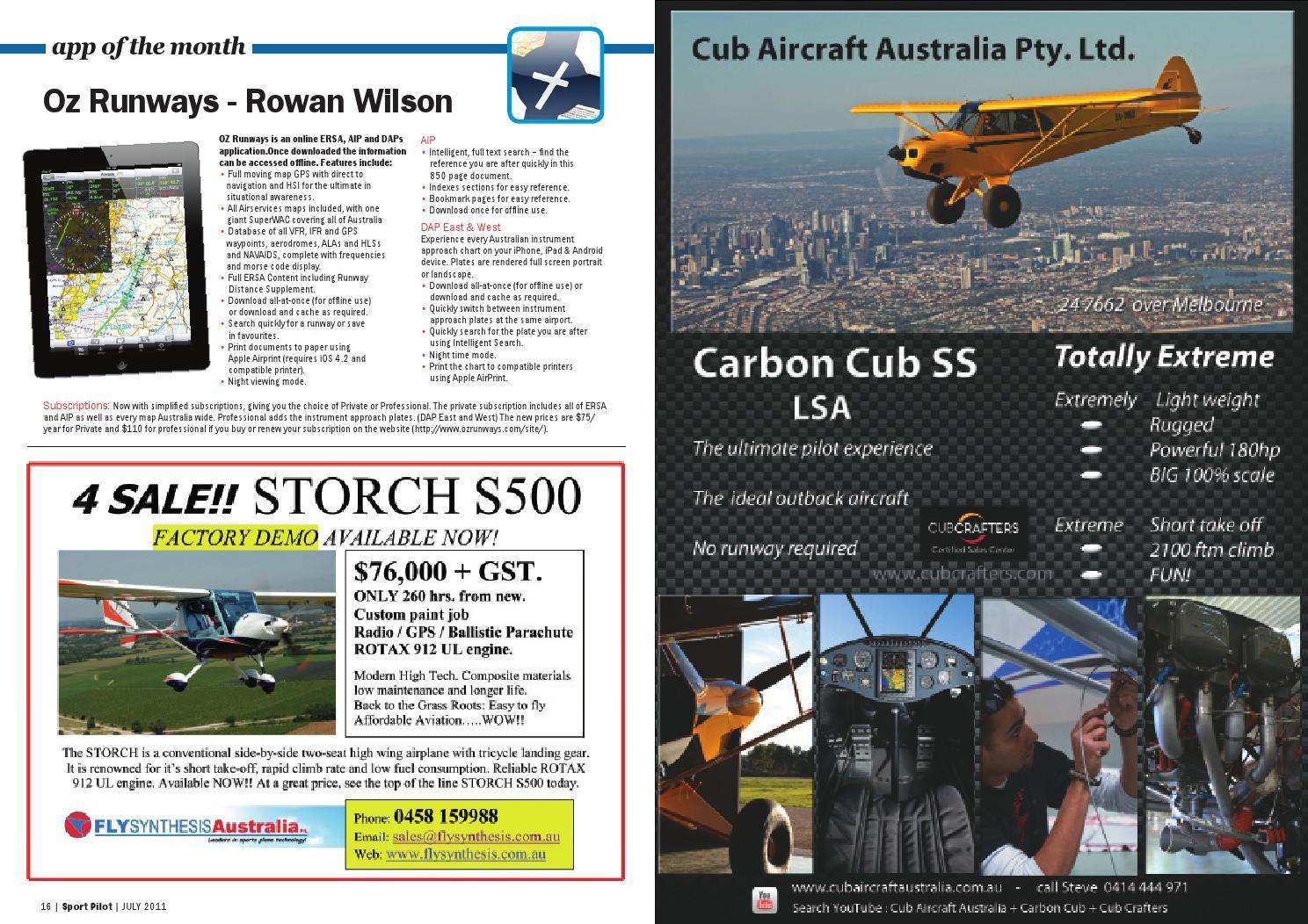 Sport pilot 2 jul 2011 by Recreational Aviation Australia - issuu