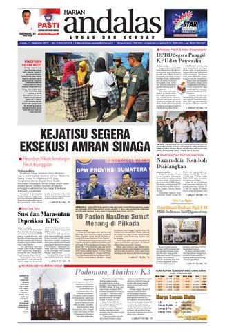 Epaper andalas edisi jumat 11 desember 2015 by media andalas - issuu c1365527c0