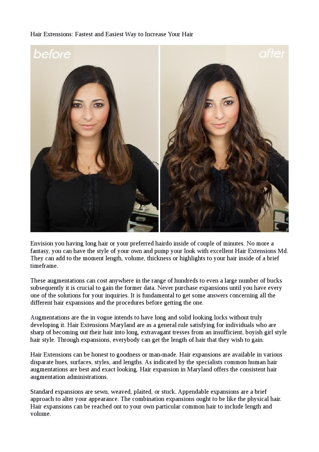 Hair Extensions Fastest And Easiest Way To Increase Your Hair By