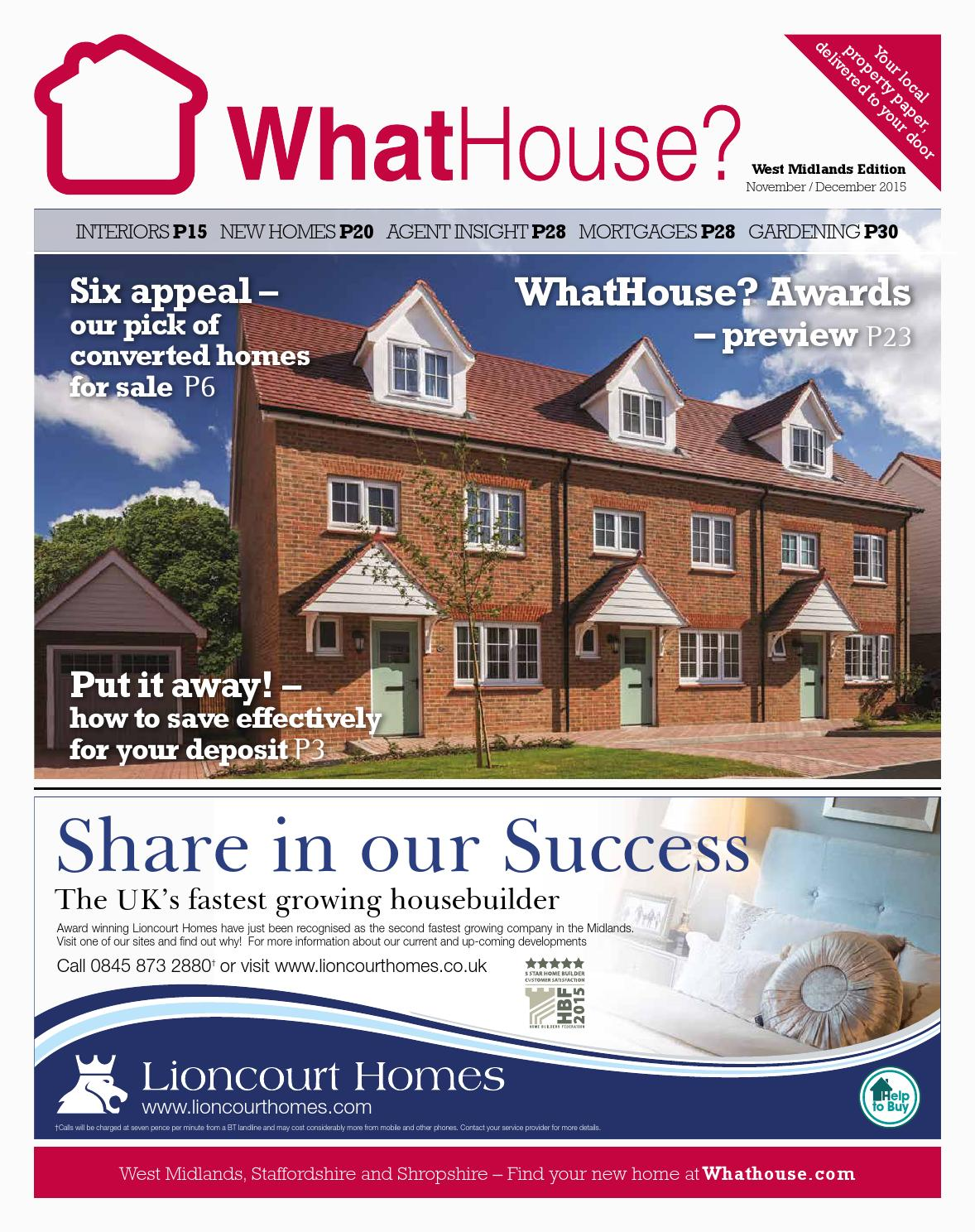 WhatHouse? West Midlands December 2015 By WhatHouse? Local