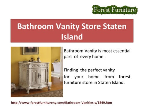 Finding The Perfect Vanity For Your Home From Forest Furniture Store In Staten  Island.
