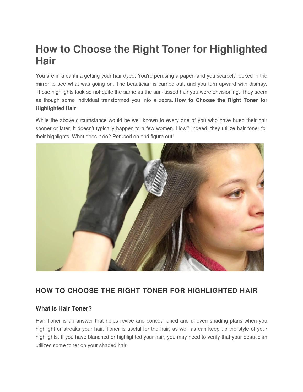 What Does Toner Do For Hair By Nandini Seo Issuu