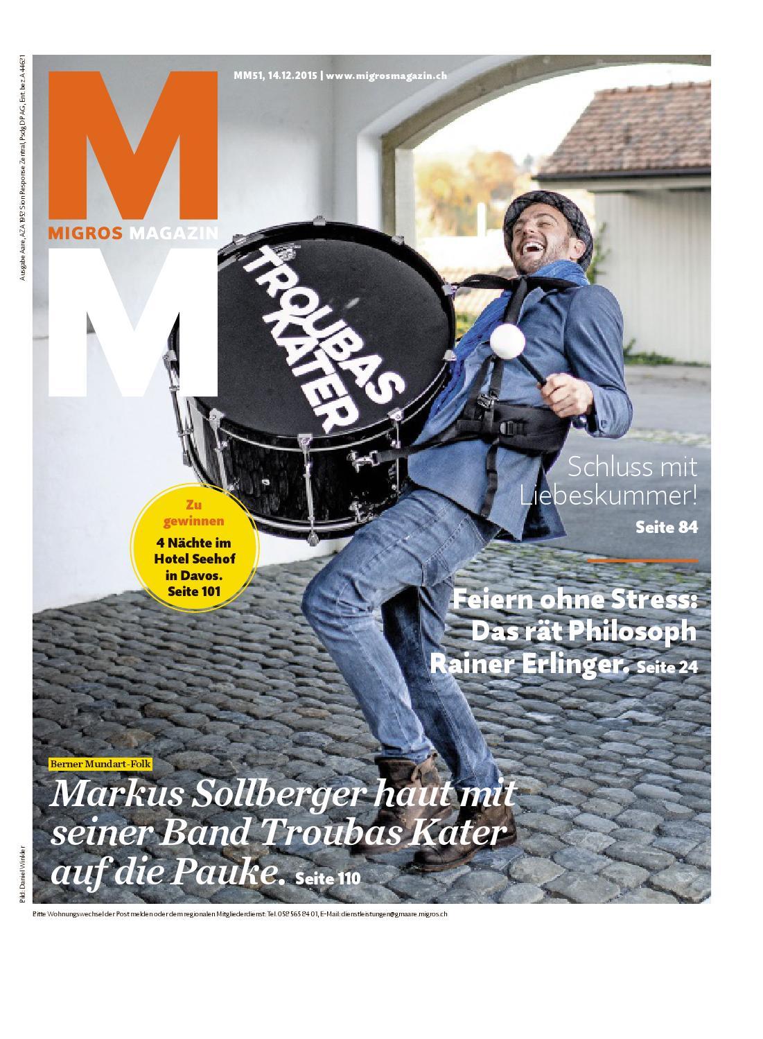Migros Magazin 51 2015 D Aa By Migros Genossenschafts Bund Issuu