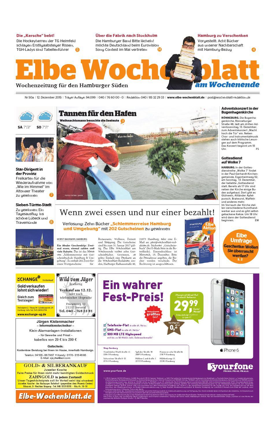 Wochenende KW50-2015 by Elbe Wochenblatt Verlagsgesellschaft mbH ...