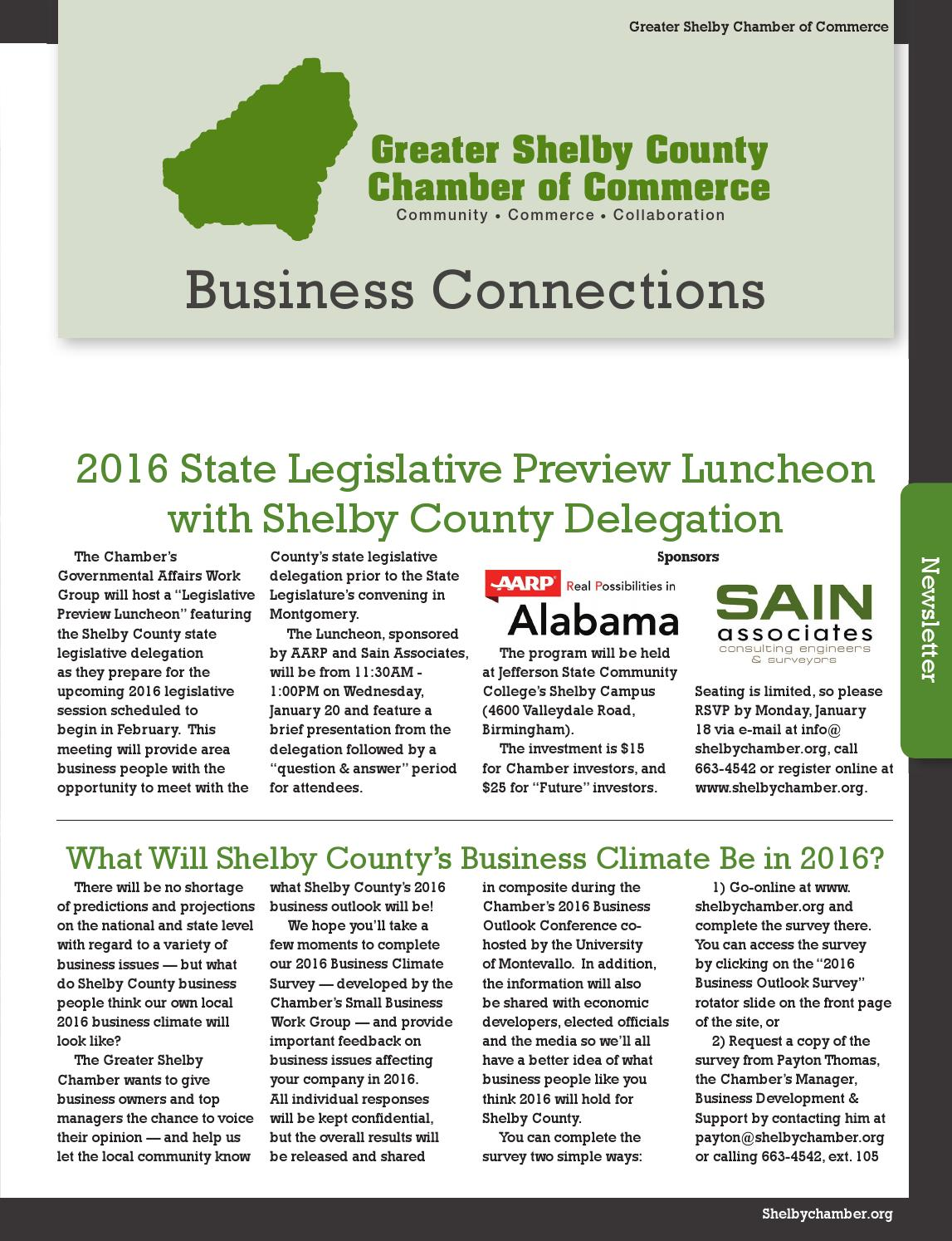 Alabama shelby county saginaw - Business Connections January2016 By Shelby County Newspapers Inc Issuu