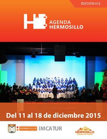 """Cover of """"Agenda Hermosillo del 11 al 18 de diciembre"""""""