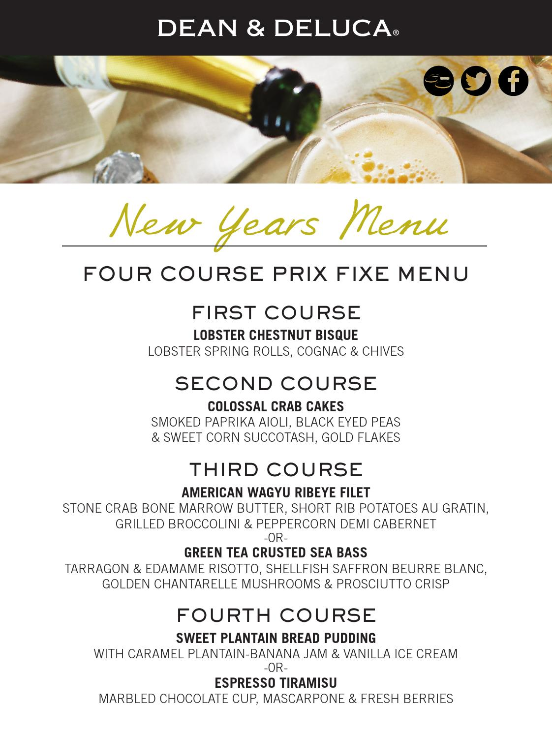 Wine Room New Years Eve Menu By Dean Amp Deluca Issuu