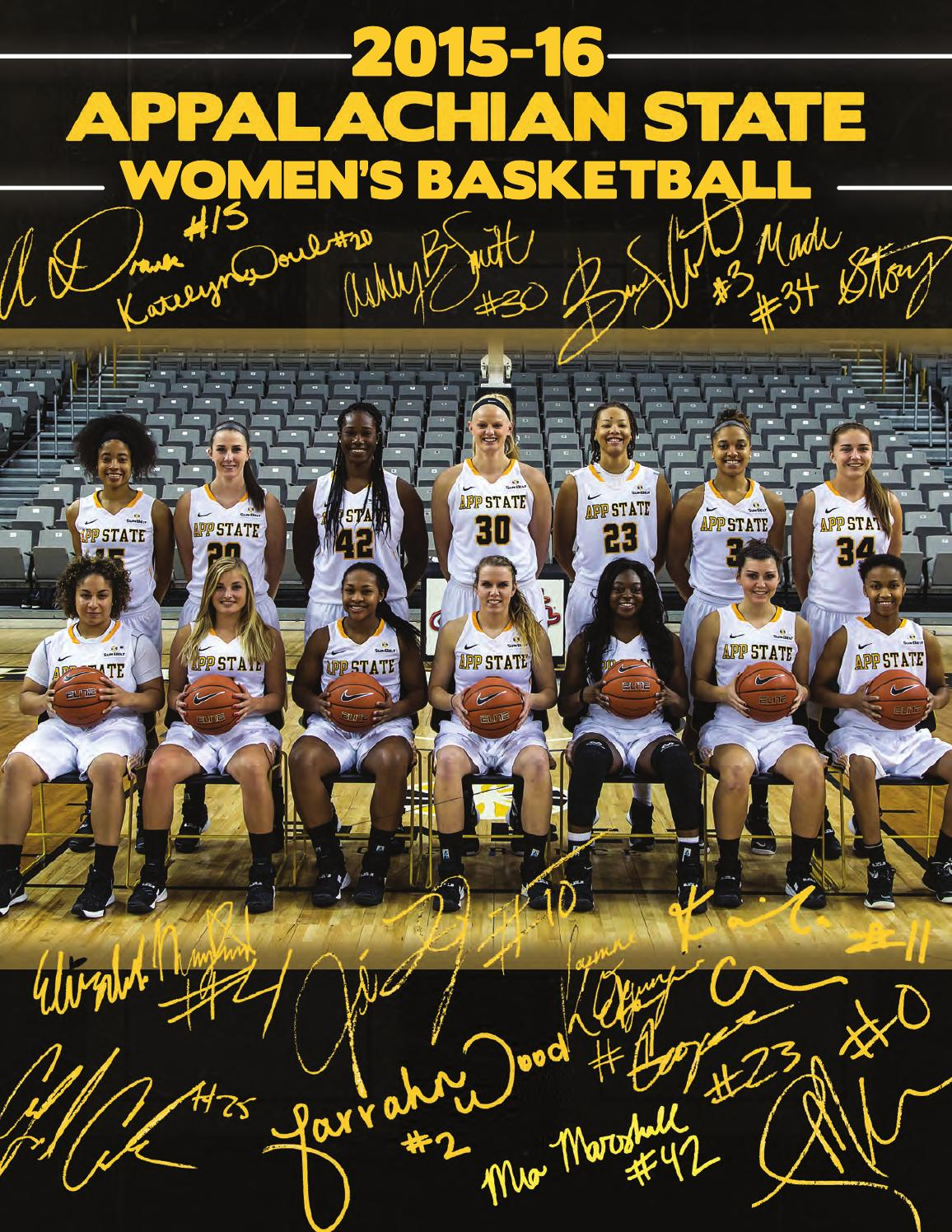2015 16 App State Women S Basketball Media Guide By Chase Colliton Issuu