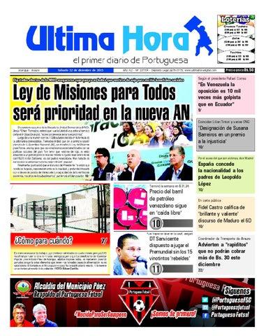 4a64bf651b2d Edición 12 12 2015 by Ultima Hora - El primer diario de Portuguesa ...
