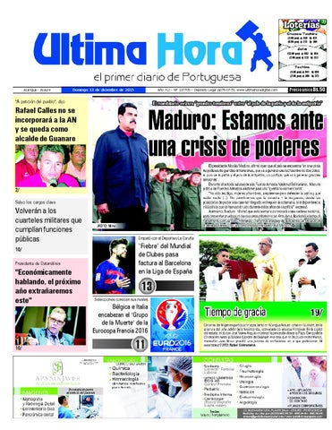 ffccfc1dc1b5 Edicion13 12 2015 by Ultima Hora - El primer diario de Portuguesa ...