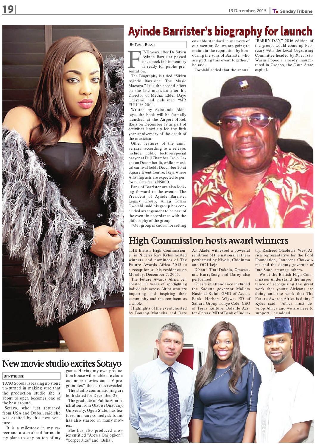 13th December 2015 by Nigerian Tribune - issuu