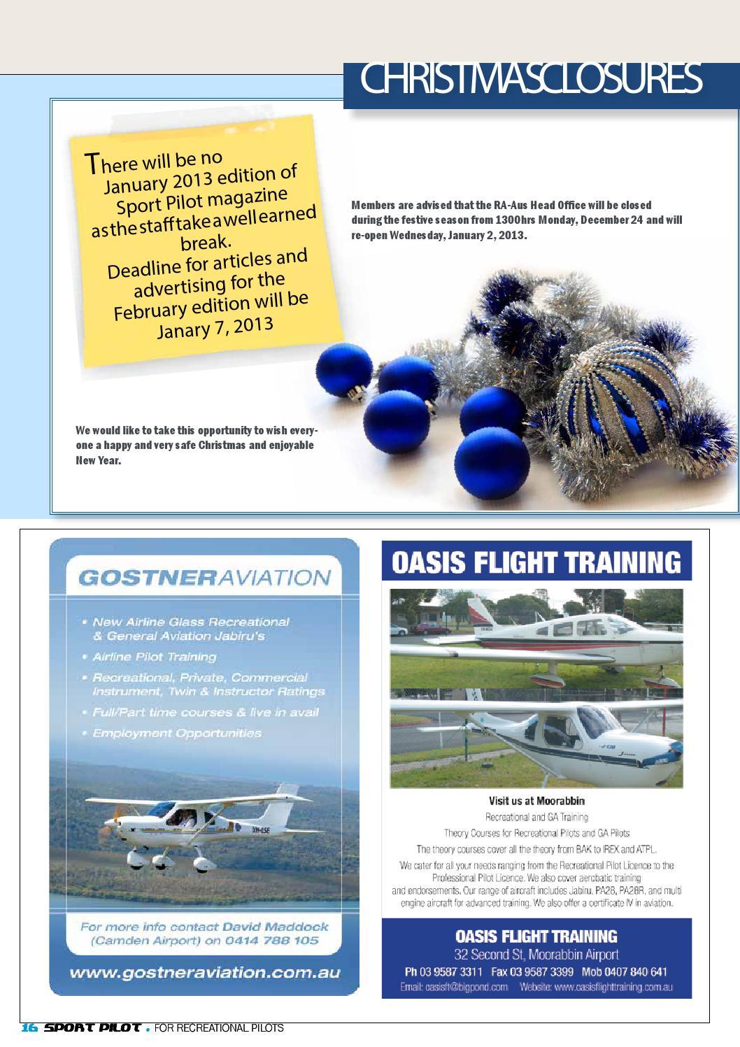 Sport Pilot 19 Dec 2012 By Recreational Aviation Australia Issuu