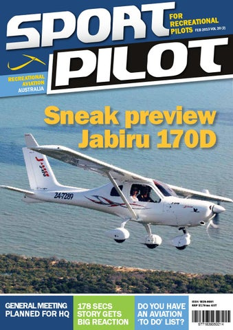 Sport pilot 20 feb 2013 by Recreational Aviation Australia - issuu