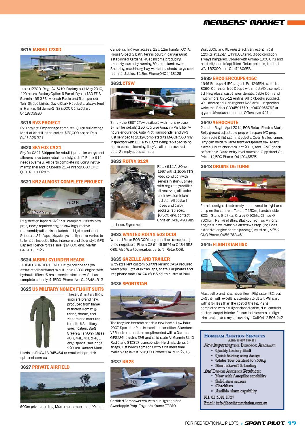Sport pilot 30 dec 2013 by Recreational Aviation Australia - issuu