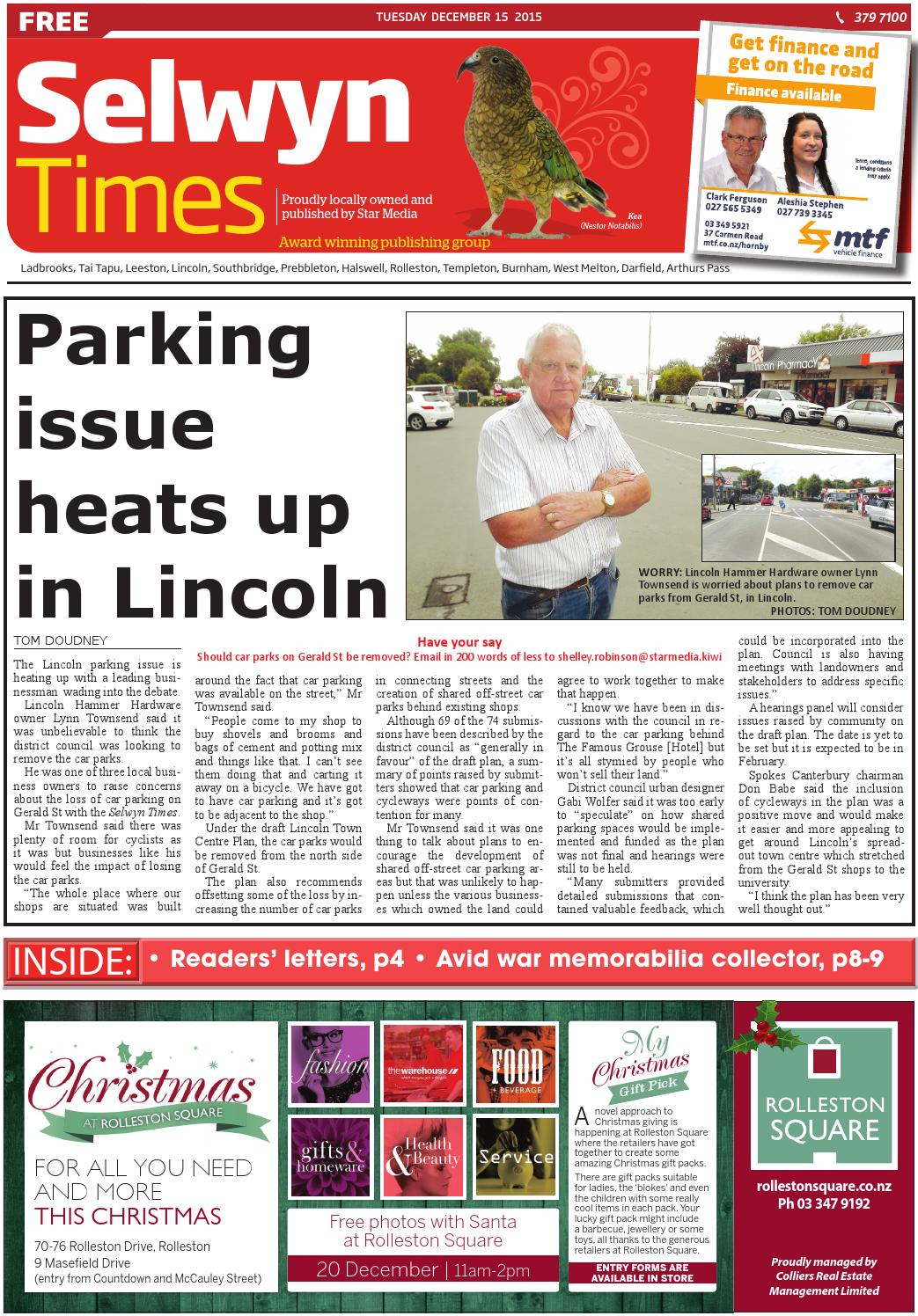 Selwyn Times 15-12-15 by Local Newspapers - issuu