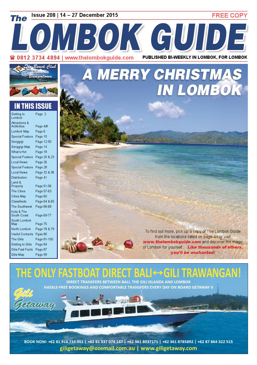 The Lombok Guide Issue 208 By Issuu Gajah Duduk Fame Merah