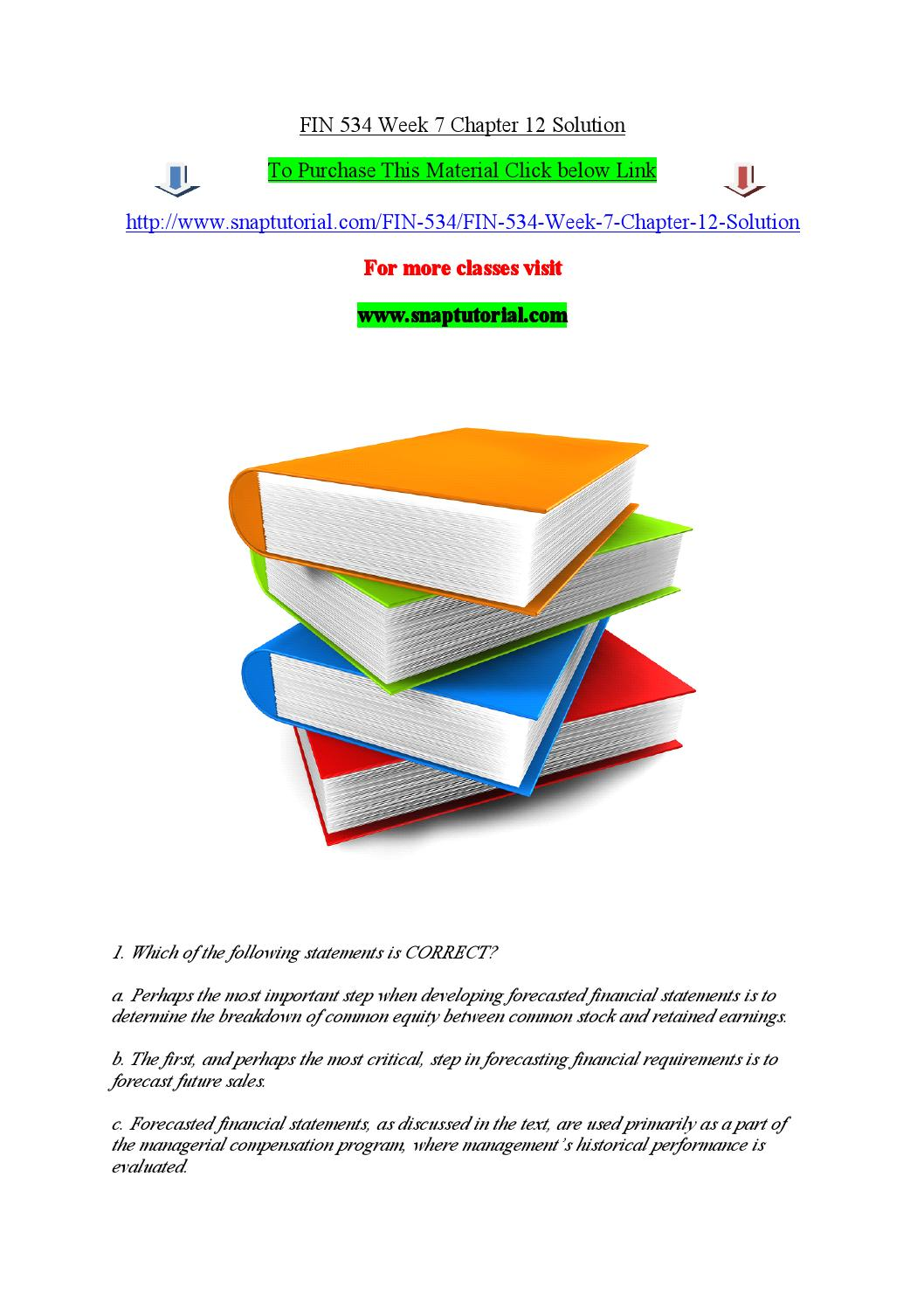 Fin 534 week 7 chapter 12 solution by madhu50 - issuu