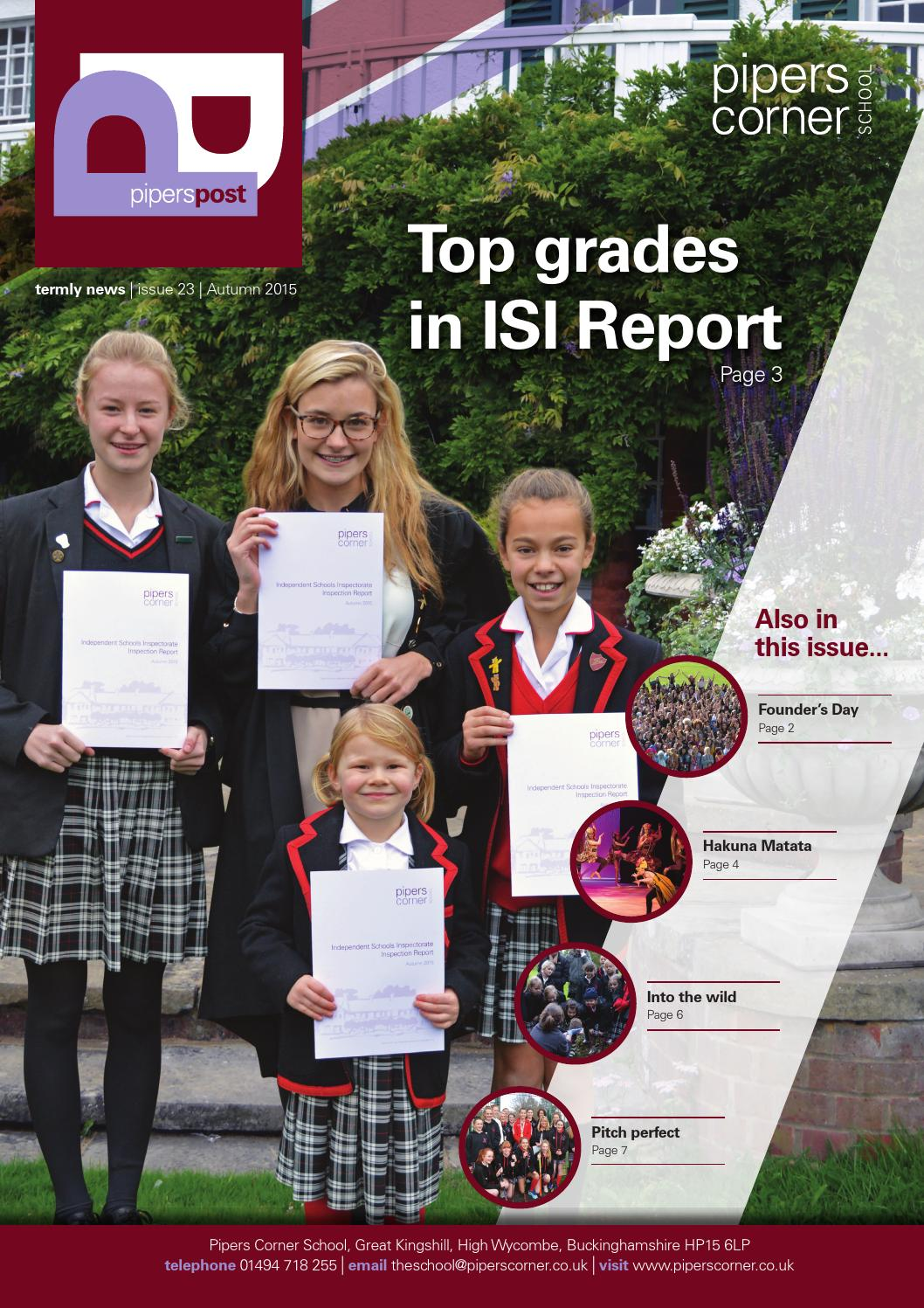 Pipers Post Autumn 2015 By Pipers Corner School Issuu