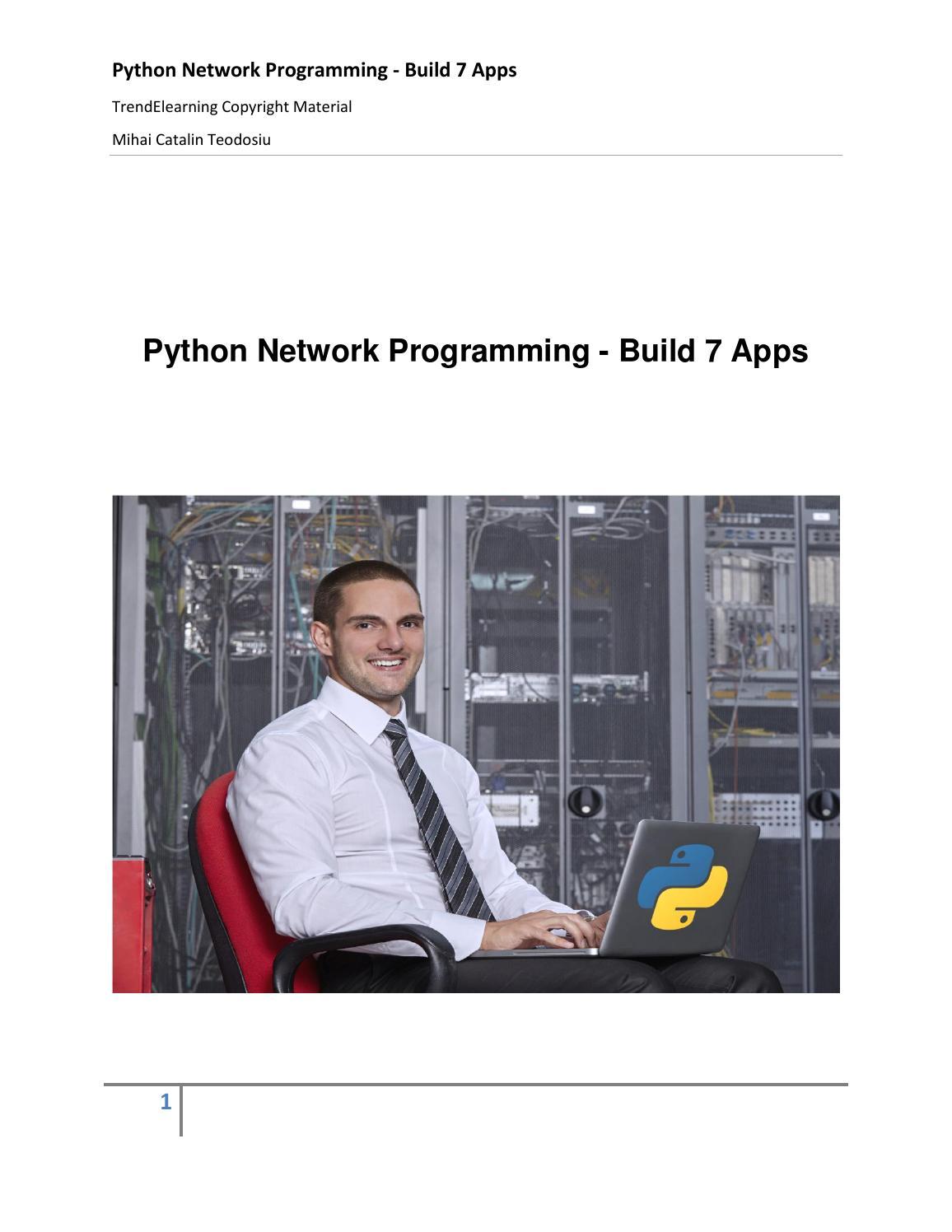 Python Network Programming by Mihai Catalin Teodosiu - issuu
