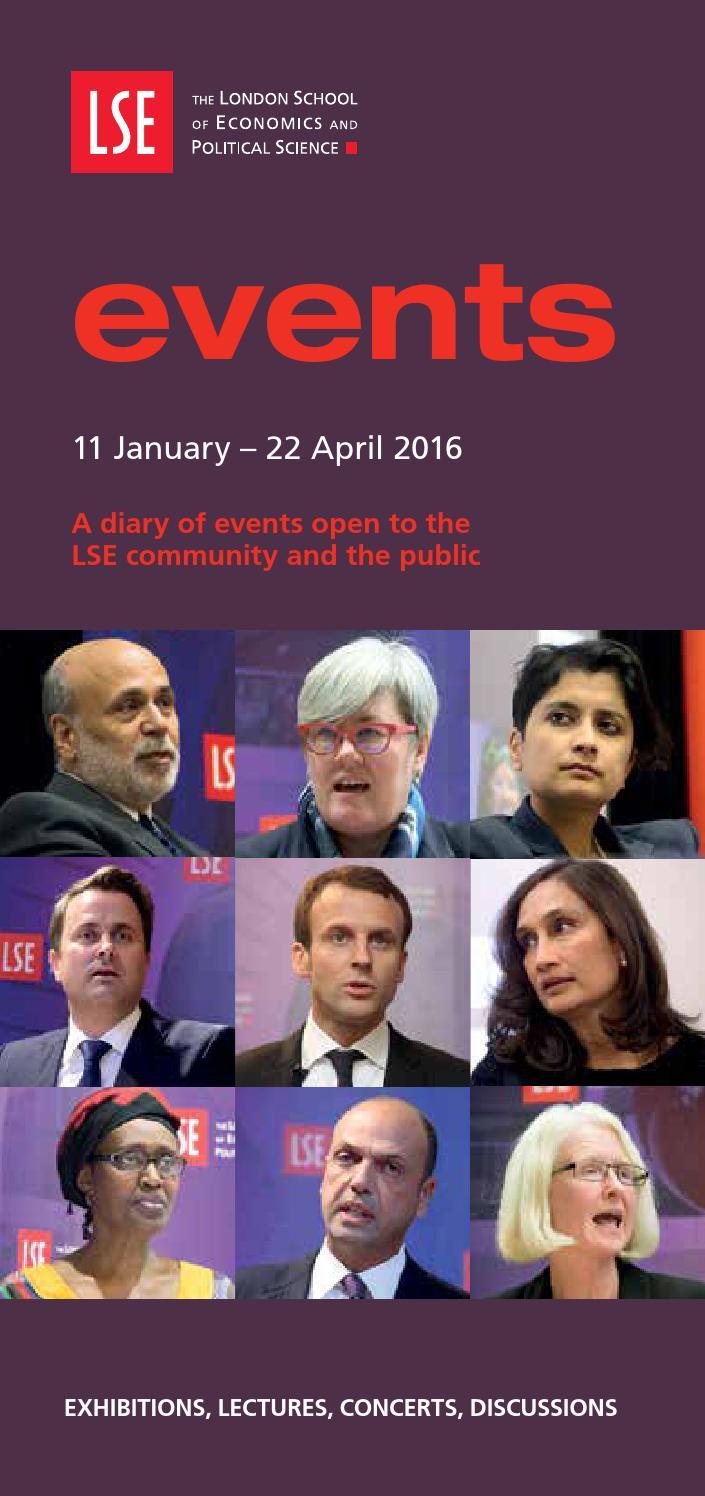 LSE Events Programme, 11 January – 22 April 2016 by London