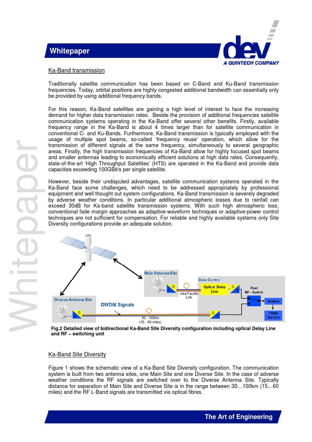 DEV Systemtechnik - Ka band diversity whitepaper by IABM - issuu