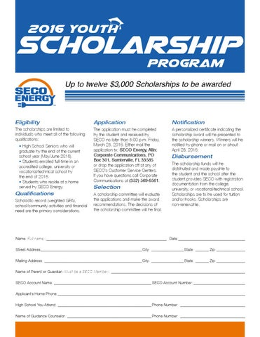 Seco-Energy-Scholarship-Application-Form By Seco Energy - Issuu