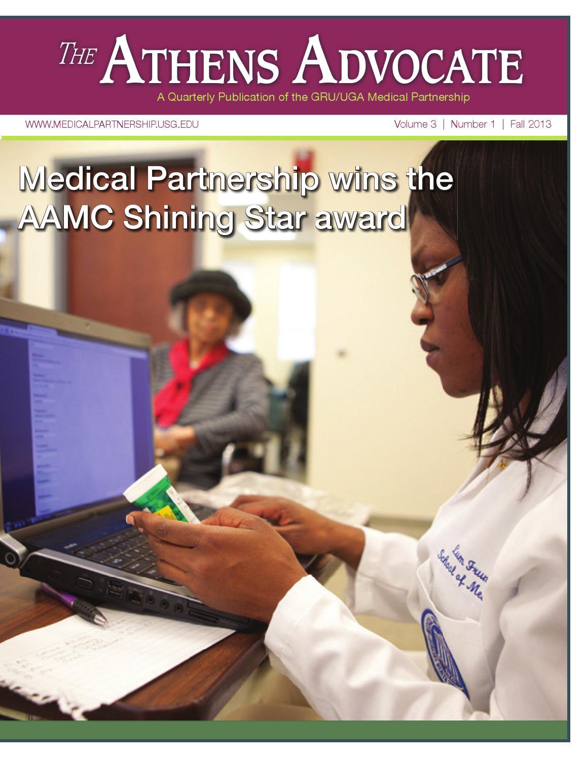 Athens Advocate Fall 2013 by AU UGA Medical Partnership ...