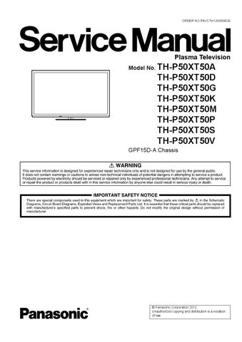 PANASONIC VIERA TH-P50XT50M TV DESCARGAR DRIVER