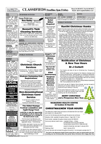 page 12 - Ross Christmas Hours