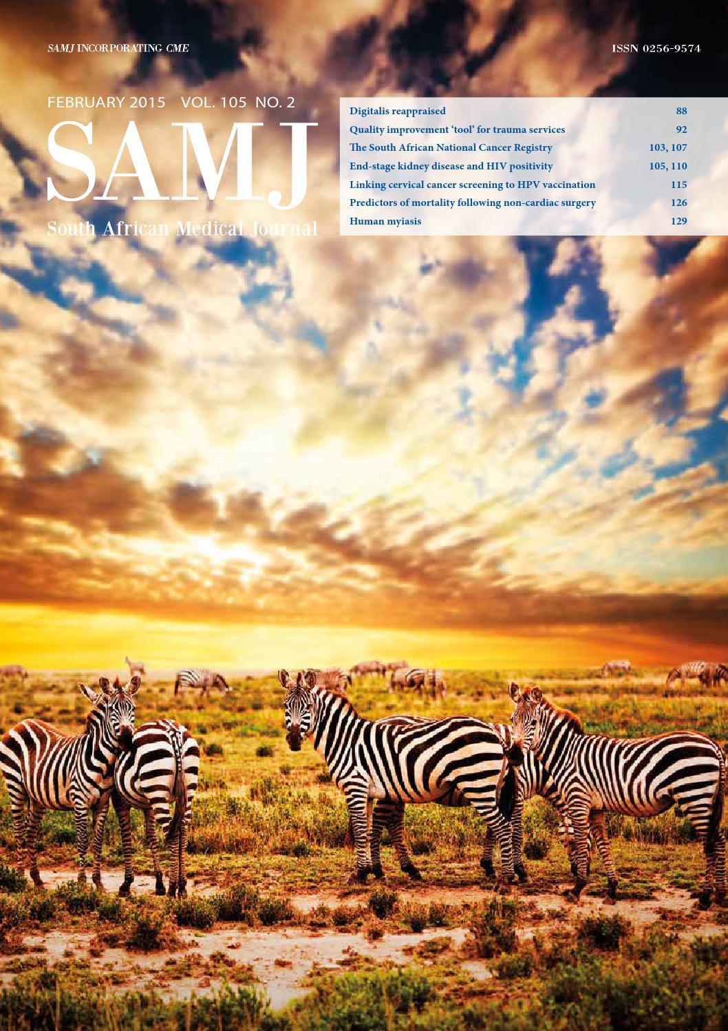 foto de SAMJ Vol 105, No 2 (2015) by HMPG - issuu