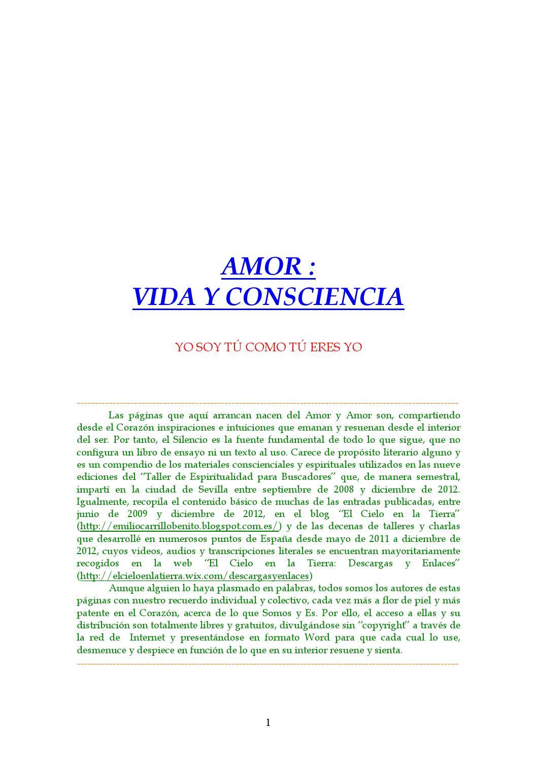 Emilio carrillo amor vida y consciencia by carmen - issuu